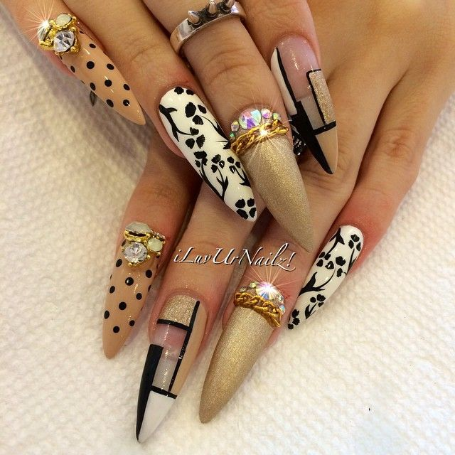 The longest full set I have ever done | Nail designs | Pinterest ...