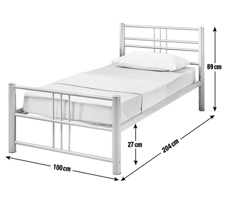 Buy Argos Home Atlas Single Metal Bed Frame Silver Bed Frames Single Metal Bed Single Metal Bed Frame Metal Bed Frame