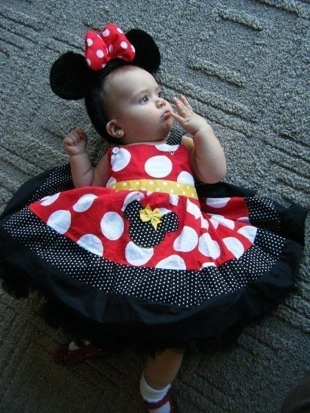 Custom Boutique Minnie Mouse Pageant Casual Dress 12 Months to 6 ...