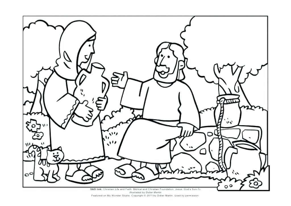 Samaritan Woman At The Well Coloring Page Remarkable Woman