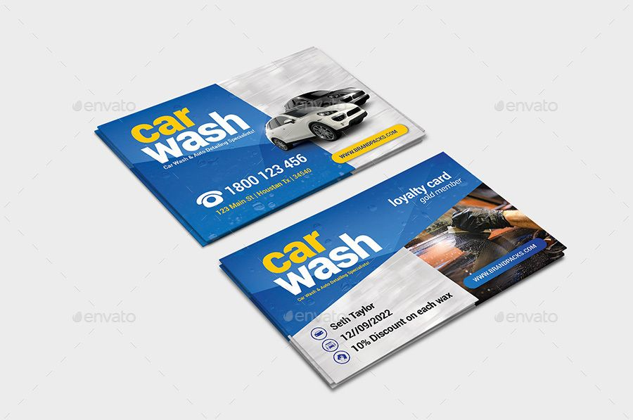 Car Wash Business Loyalty Card Car Wash Business Car Wash Business Card Template
