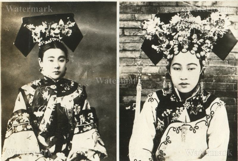 Original Wwii Japanese Photo Manchurian Empress Wanrong Great Photo Photo Qing Dynasty Women In China