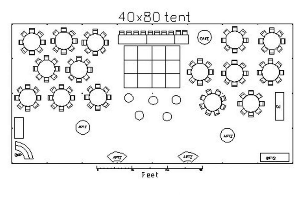 How To Design A 40 Foot X 80 Wedding Tent Layout