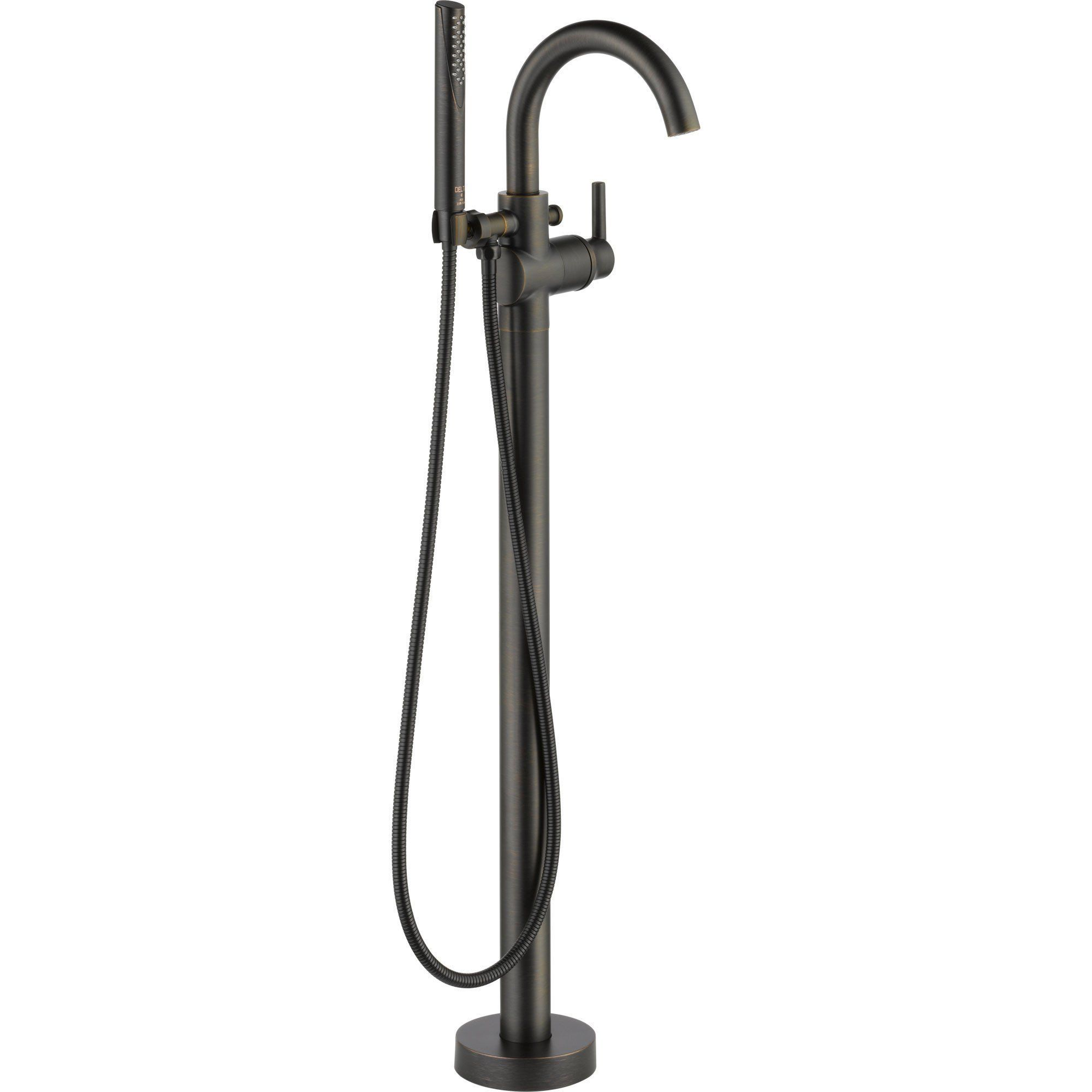 Delta Trinsic Venetian Bronze Floor Mount Freestanding Tub Filler