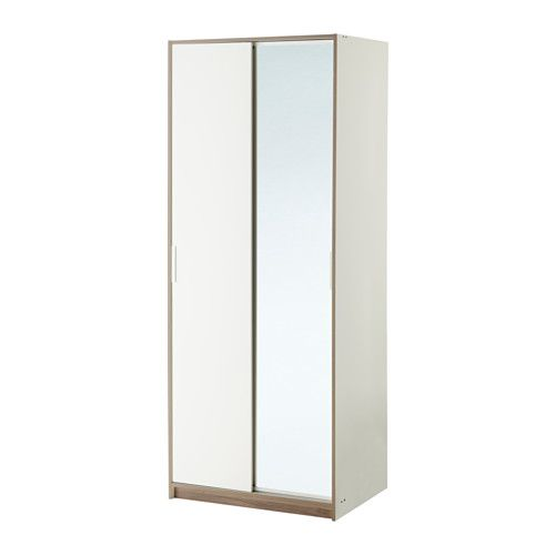 Trysil White Mirror Glass Wardrobe 79x61x202 Cm Ikea Trysil White Mirror Glass Wall Shelves