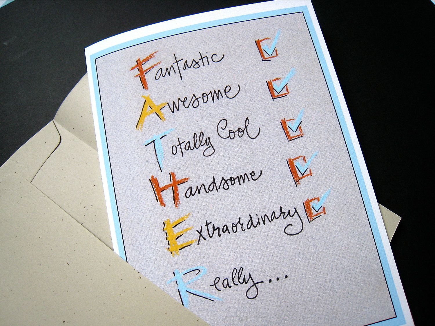 homemade fathers day cards Like this item – Birthday Cards for Dad Ideas