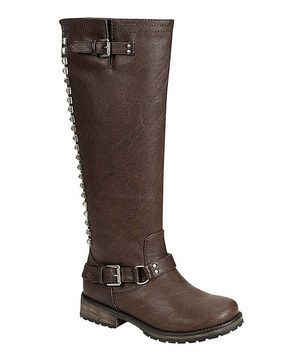 Loving this Brown Trooper Stud Boot on #zulily! #zulilyfinds