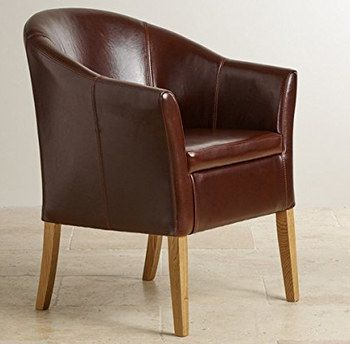Hand-Made Real Leather Tub Chair | Brown Tub Armchairs | Pinterest ...