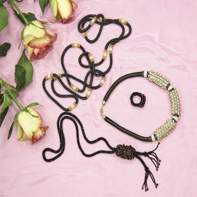 бижутерия, колье, Лена рукоделие №05 2008, многослойное плетение