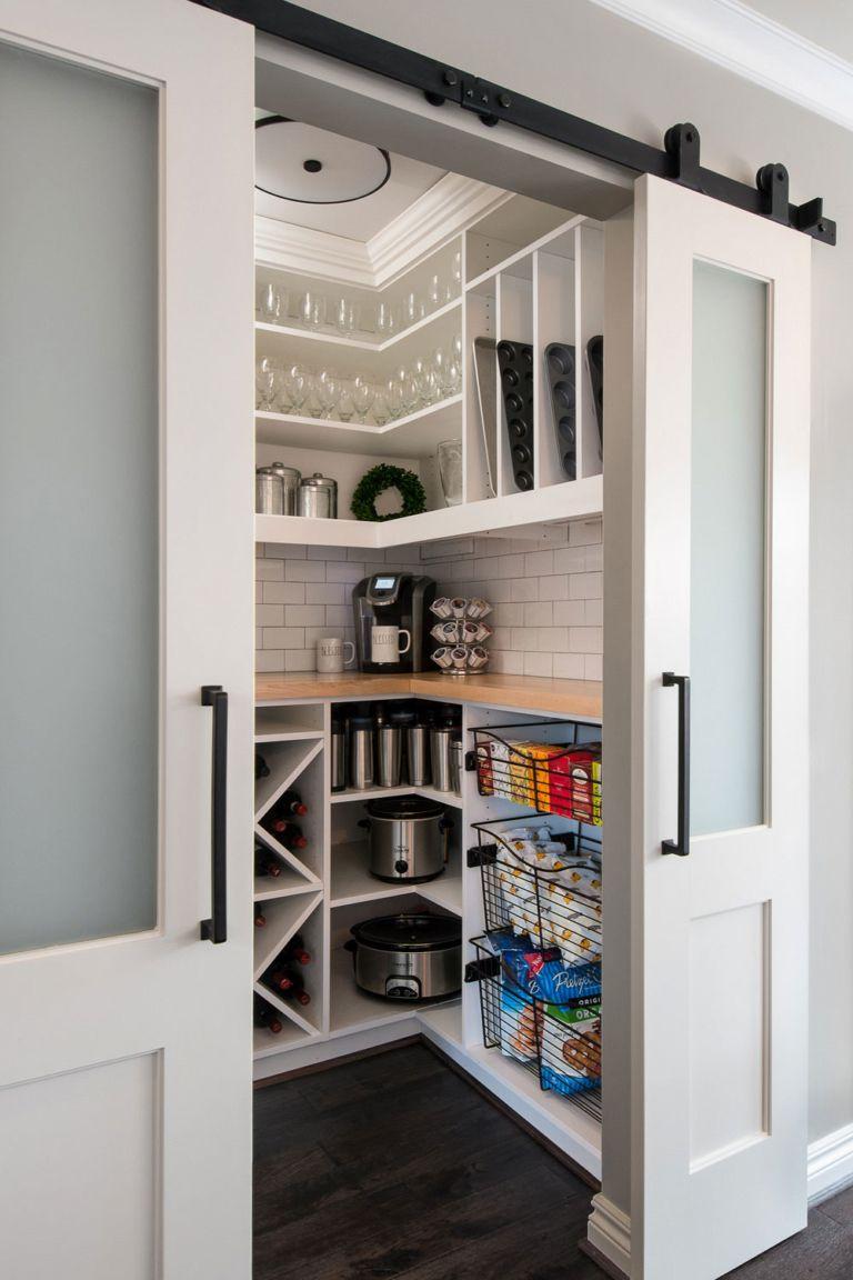 34+ White Kitchen Pantry ( SMART ORGANIZATION ) - Stylish Pantry