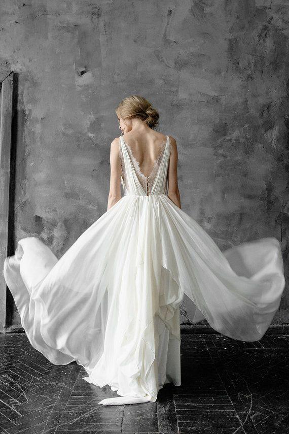 Silk Wedding Dress Amalthea Lace Wedding Gown Summer Wedding Dress Bohemian Wedding Boho Style Dress Open Back Bridal Gown In 2020 Wedding Gowns Lace Stylish Wedding Dresses Wedding Dresses,Nice Dresses For Wedding Guests