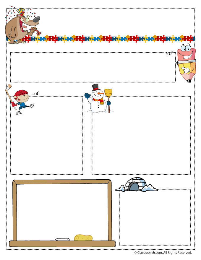 january teacher newsletter template monthly newsletter templates