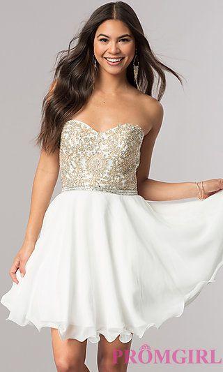 6beb6bb085 ... Short Semi-Formal Homecoming Party Dresses - PromGirl best website  833c2 4c25e  Off the shouler Prom Dress