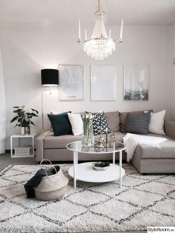 33 Beige Living Room Ideas: Beautiful Small Living Room In Neutral Colors. Grey, Beige