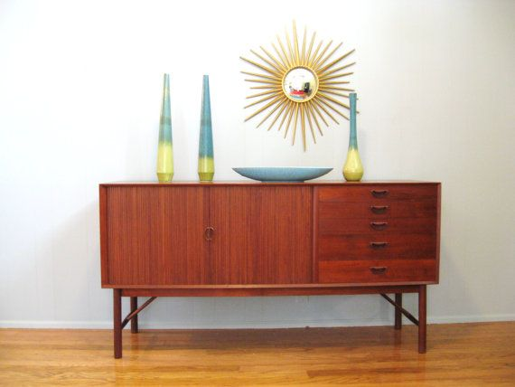 Credenza Definition : Mid century danish modern teak credenza cabinet by peter hvidt and