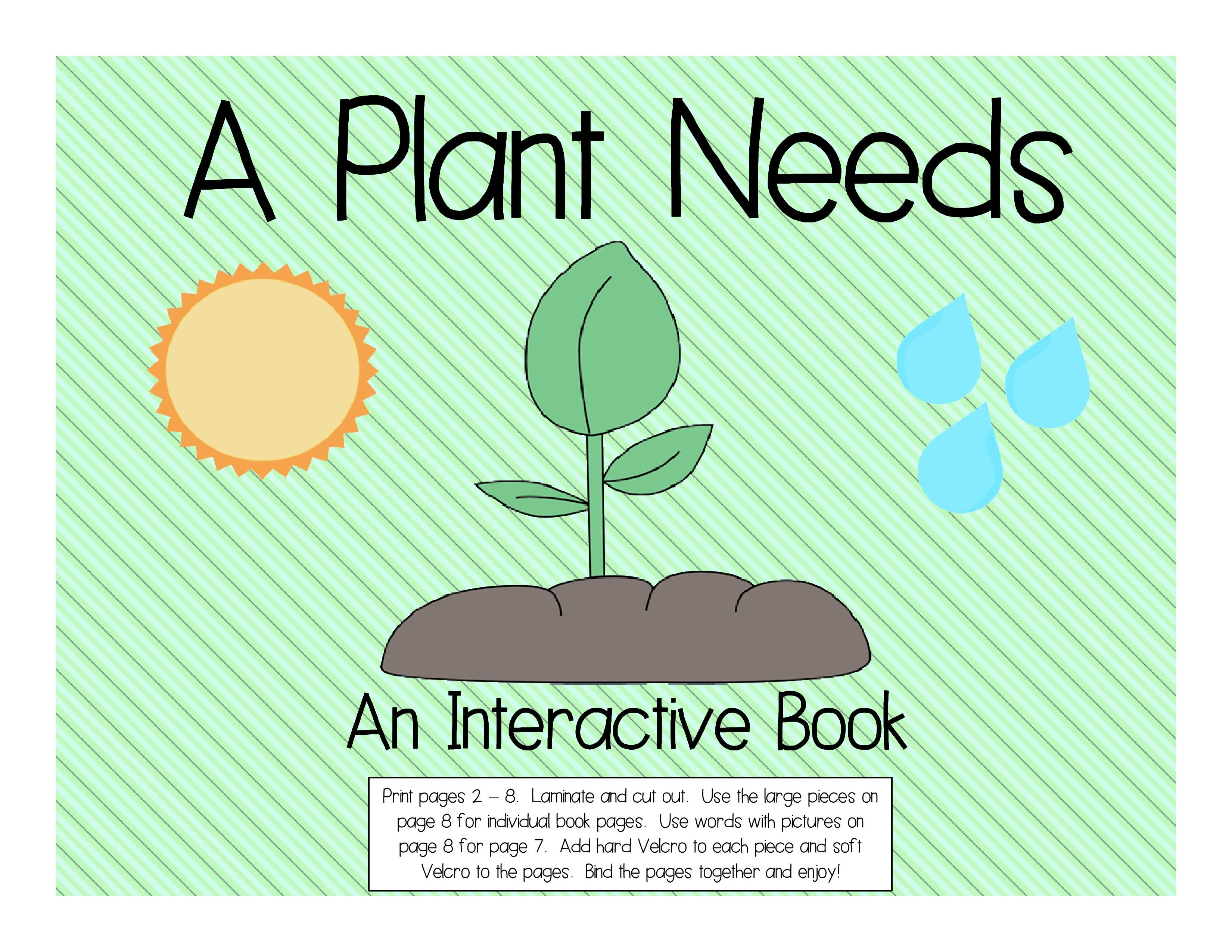 A Plant Needs An Interactive Book Student Book Interactive Book Plant Needs Smart Board Activities [ 2550 x 3300 Pixel ]