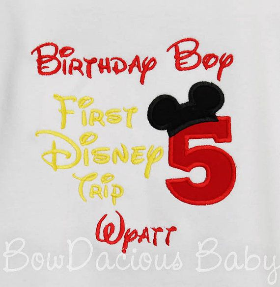 My First Disney Trip Shirt Birthday 1st By Bowdaciousbaby