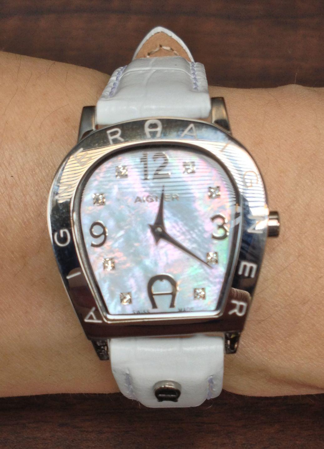 Aigner Jam Tangan Wanita Quality Super Model Elegant Casua Leather A24265 Garda Coklat Rosegold Watch Digital All White