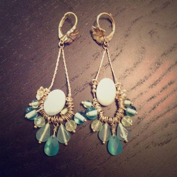 Anthropologie turquoise chandelier earrings Gorgeous turquoise chandelier earrings Anthropologie Jewelry Earrings