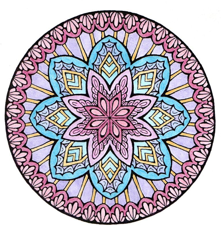 From Dover\'s Mystical Mandala Coloring Book by Alberta Hutchinson ...