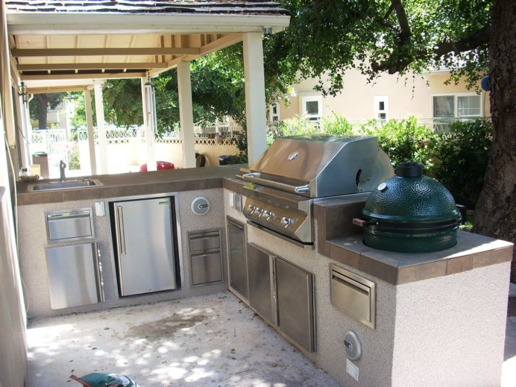 Breathtaking Outdoor Kitchen Design Idea With White Gazebo White Classy Outdoor Kitchen Layout Decorating Design