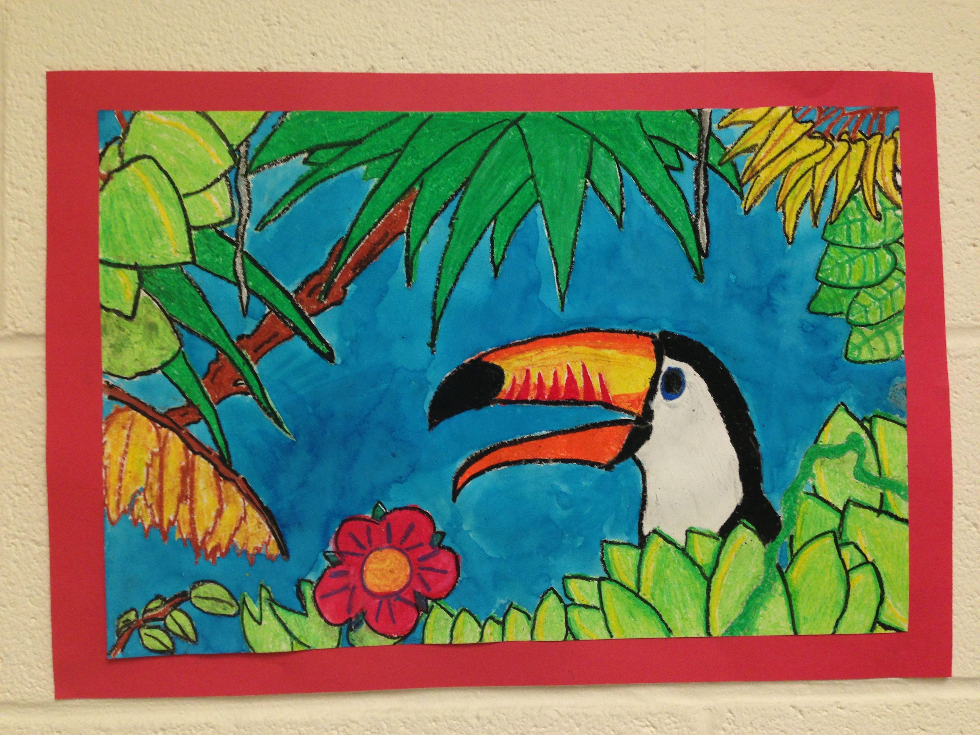 Henri Rousseau Toucan Resist Elementary Art Projects Classroom Art Projects Jungle Art