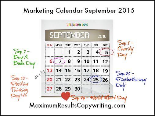 Looking Ahead - Marketing Calendar September 2015 - http - what is a marketing calendar
