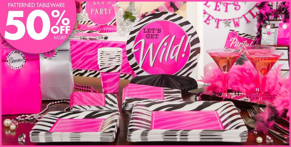 Zebra Print Party Supplies 10 year old Diva birthday party