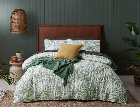 Jungle Foliage Flannelette Quilt Covers Bed Bath N Table Quilt Cover Bedroom Colour Palette Single Quilt
