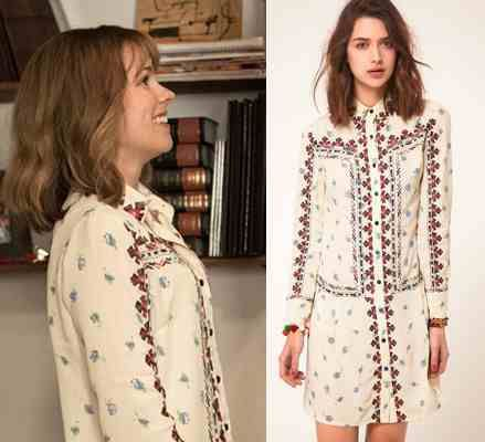 About Time movie: Mary's (Rachel McAdams) ASOS Collection Floral Embroidered Shirt Dress #abouttimemovie #abouttime #getthelook