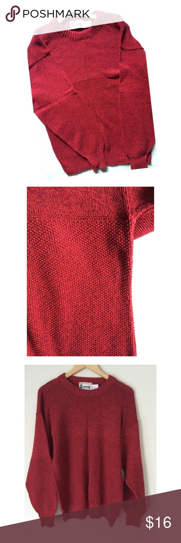 London Fog vintage red sweater⚡ Fab London Fog red vintage knit ...