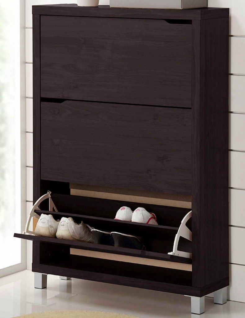 Wood Shoe Cabinet With Three Draweretal Details Product Cabinetconstruction Material And Metal Color Cuccinofeatures Drawers