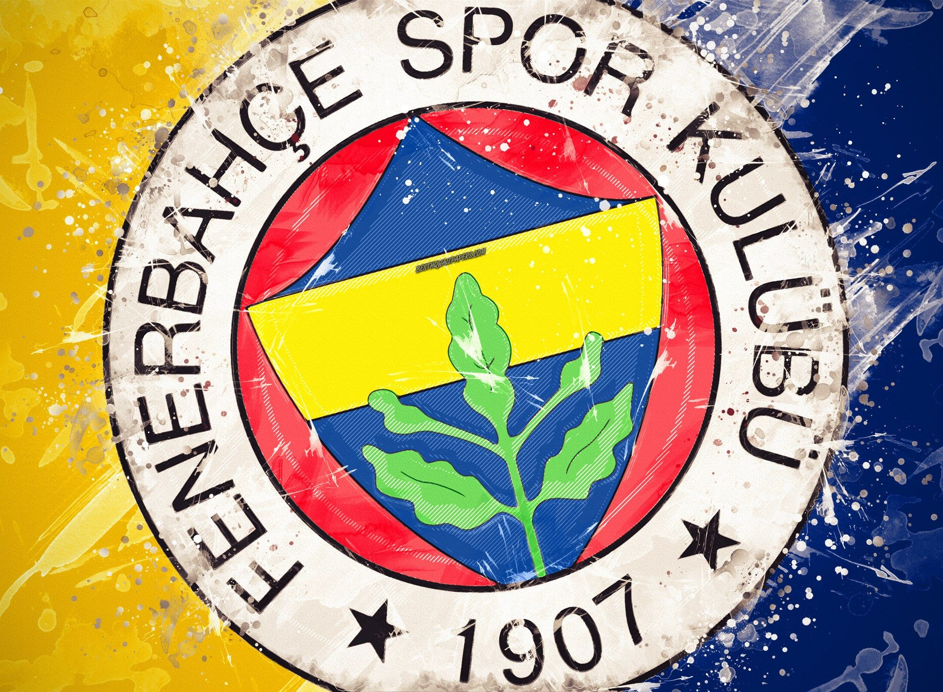 Fenerbahce Sk 4k Paint Art Logo Creative Turkish