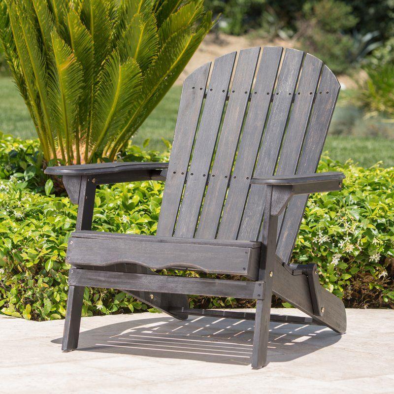 Ridgeline Solid Wood Folding Adirondack Chair Folding