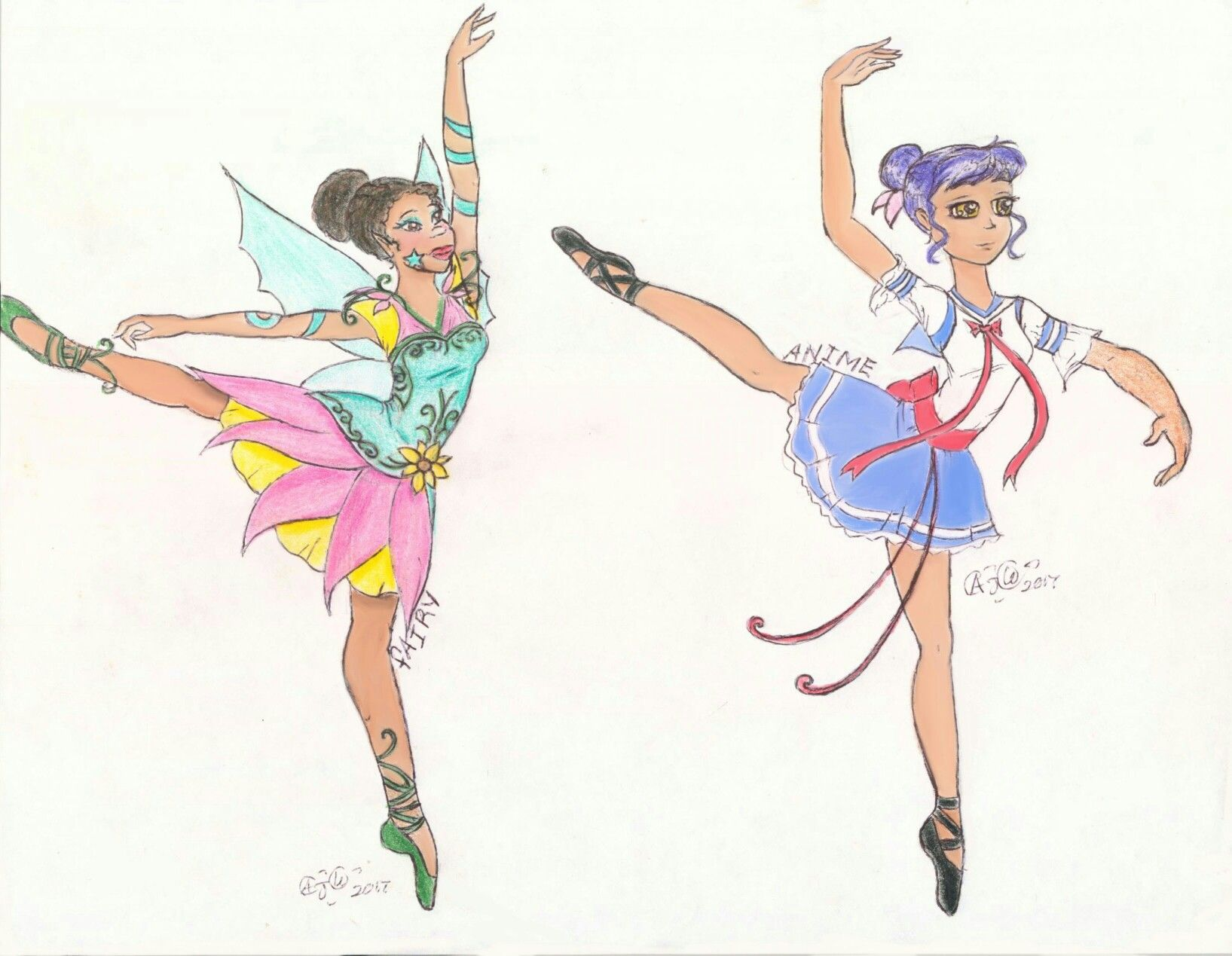 Ballerina series. Different styles. #dancers #anime #fairy ...