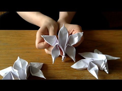 3 Fast Origami Orchids Youtube Stuff I Want To Make Pinterest