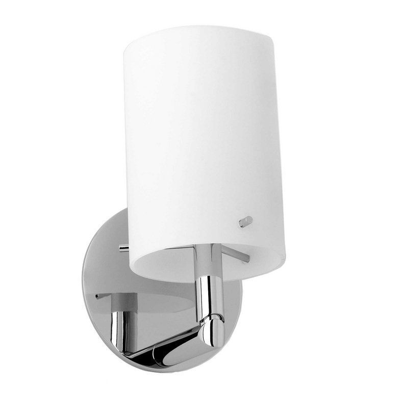 Picture Collection Website Ginger Single Light from the Sine Collection Polished Chrome Indoor Lighting Bathroom Fixtures Vanity Light