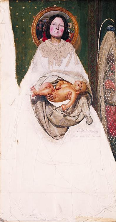 """Ford Madox Brown (1821‐1893), """"Prendi tuo figlio, Signore"""", iniziato nel 1851‐52, ampliato e rielaborato nel 1856‐57"""