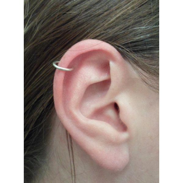 Sterling Silver Hoop Earring 16 Gauge Cartilage Tragus Helix