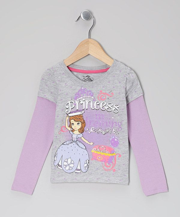 Take a look at this Sofia the First Gray   Lavender  Princess  Layered Tee  - Toddler on zulily today! 7138a744d