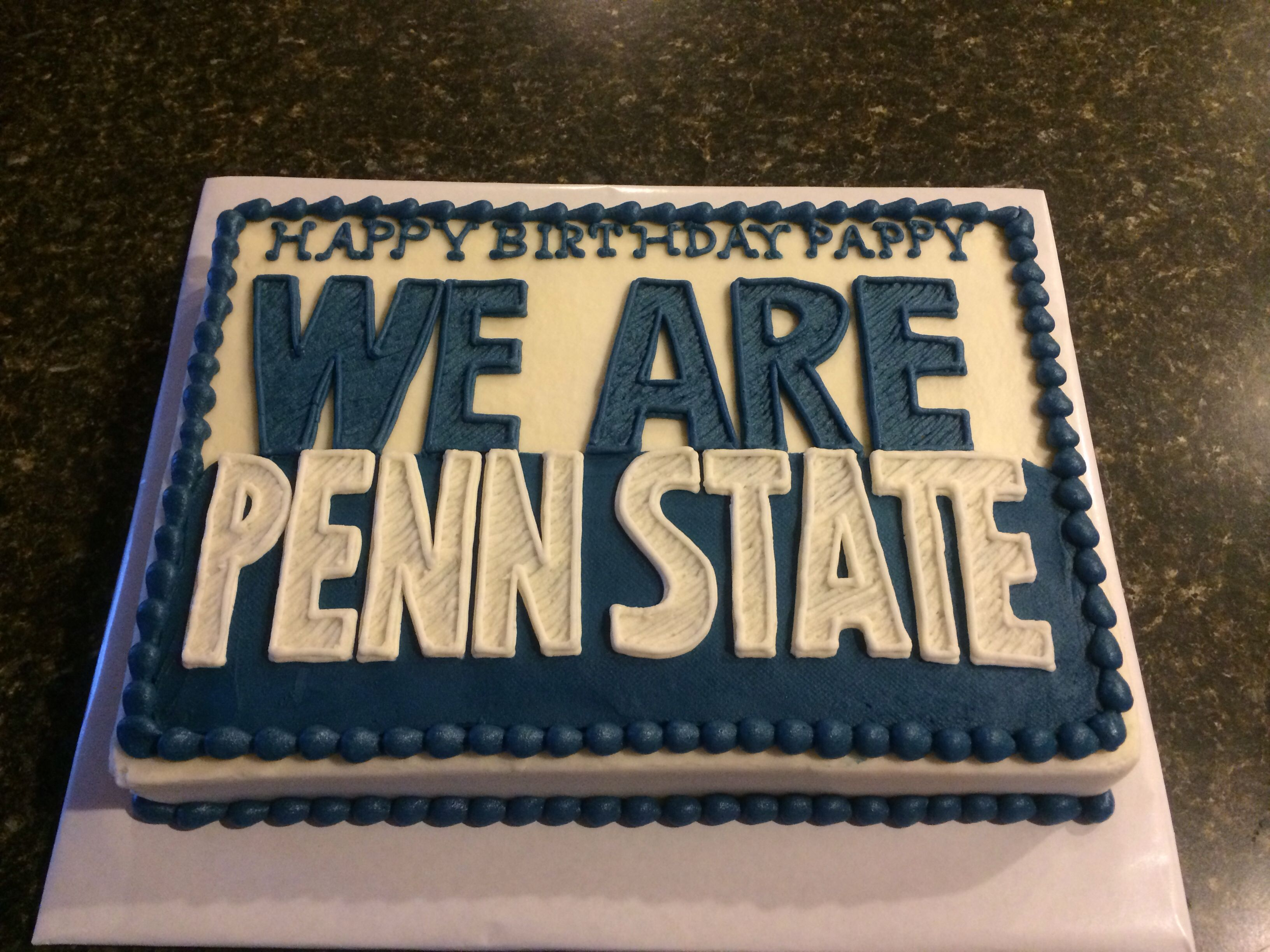 Penn State Sheet Cake With Images Graduation Party Planning