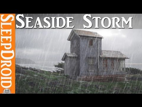 10 Hours Of Seaside Rainstorm And Wind Storm Sounds For Sleeping Rain And Windstorm By The Sea Storm Sounds Relaxing Rain Sounds Rain Sounds For Sleeping