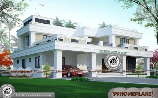 Modern Villa Plans 90 Double Storey Homes Plans Stylish Exterior Ideas In 2020 Flat Roof House House Roof Flat Roof House Designs