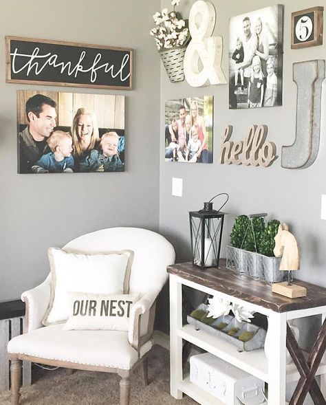 master bedroom gallery wall via vintage nest on ig home decor diy cheap - Decorating Ideas For Living Room Walls