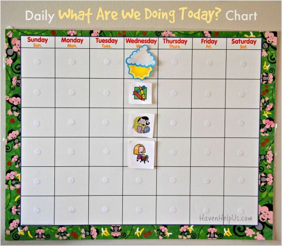 Make A Daily What Are We Doing Today Chart Chart Activities Preschool Age