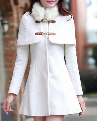 bb7617cbc27b3 White Coat - rosegal.com   Dress   Pinterest   Femme fashion, Fatale ...