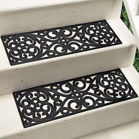 French Quarter Rubber Stair Treads: Turn These Vertical And Paint A Fun  Color. Good For Privacy Trellis