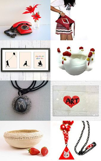Red Pops by Julia on Etsy