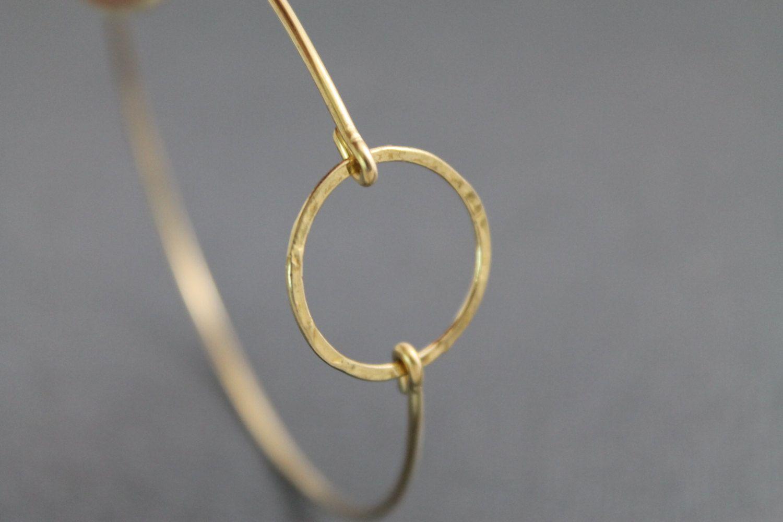 Bangle Bracelet  Circle of Life Brass Bangle  by 25MaidenLane