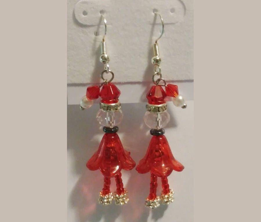 d613ac704684b Mrs. Santa Claus Earrings by AmysTreasureTrove1 on Etsy | Christmas ...